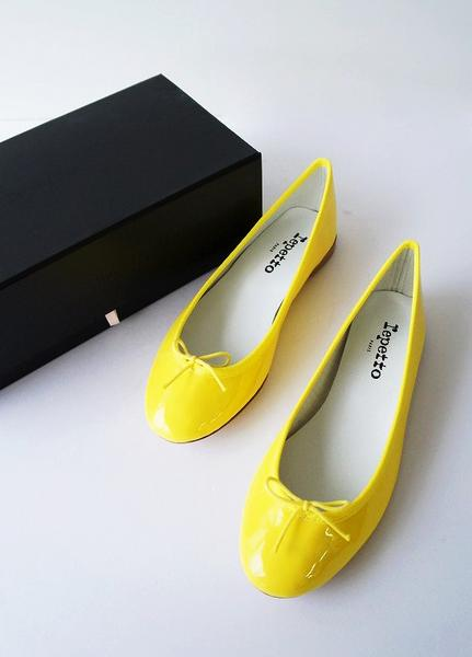 repetto エナメルレザーバレエシューズ