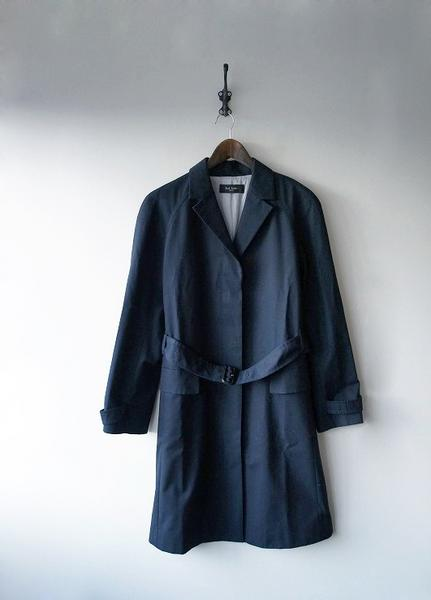 比翼仕立てロングジャケットコート