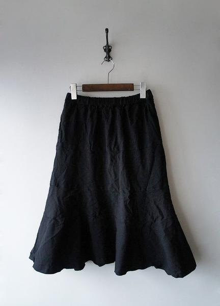 COMME des GARCONSポリ縮縦スカート