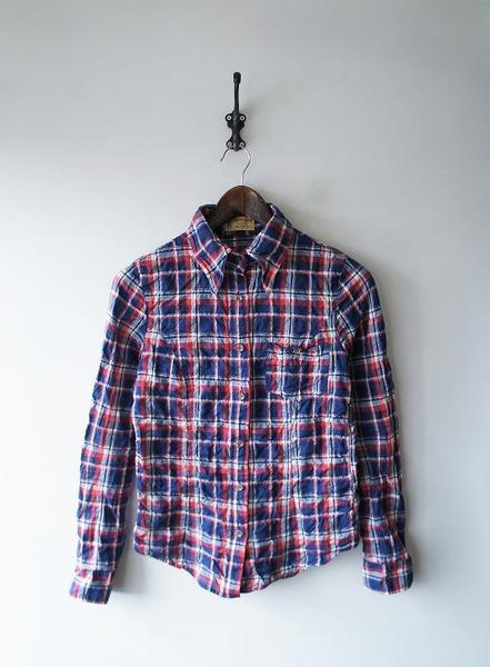 L'Appartement1ポケチェックミディアム丈シャツ