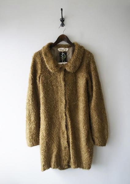 ファー丸衿ロングコート