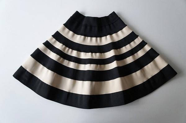 ボーダーバンテージスカート