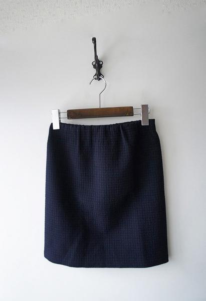 BED&BREAKFASTブロックステッチスカート