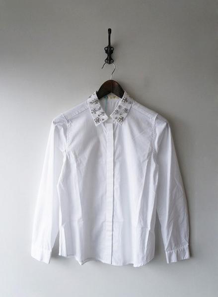 ビジューカラーシャツ