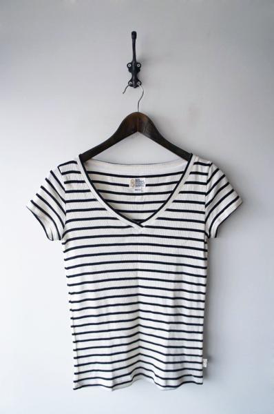 ソフトリブVネックTシャツ