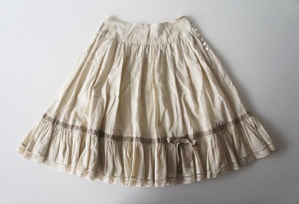 コットンレーススカート