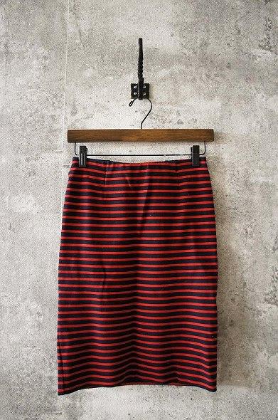 ストレッチポンチボーダータイトスカート