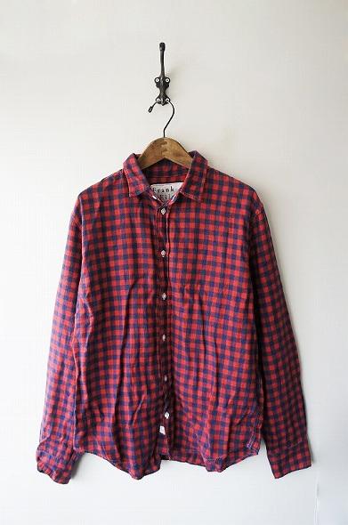 コットン フランネル チェックシャツ