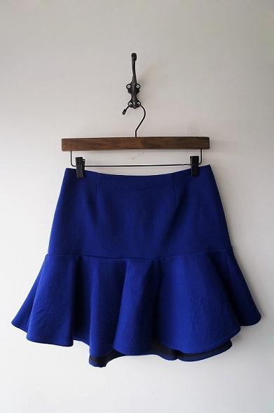 ダブルフェイスペプラムスカート