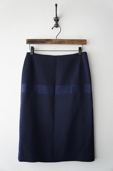 グログランラインタイトロングスカート
