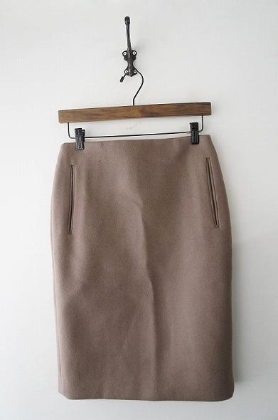 カシミヤ混ウールメルトンスカート