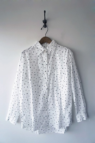 コットン星プリントオーバーシャツ