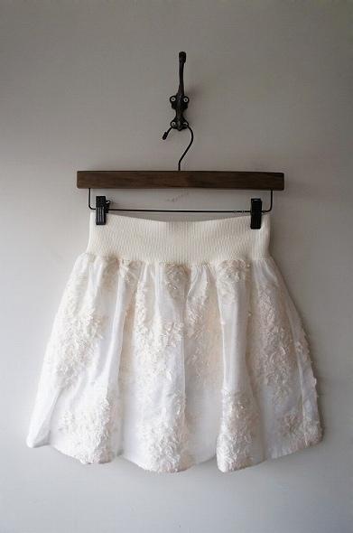 フラワージャガードリブスカート