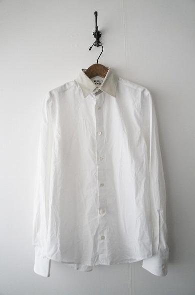 付け襟クレリックブロードシャツ