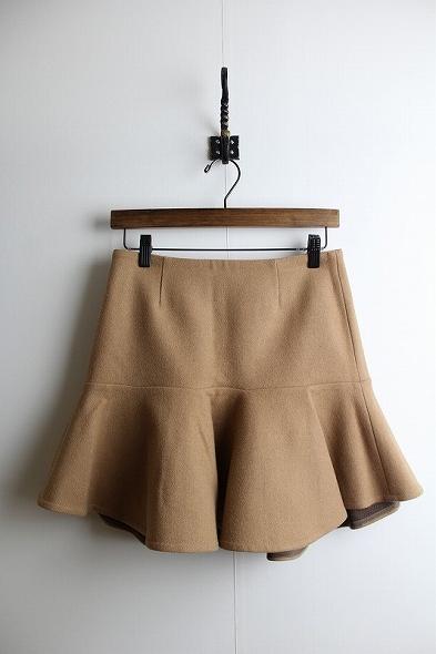 ウールカシミヤペプラムスカート