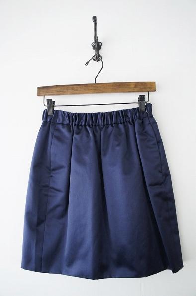 コットンシルクサテンギャザースカート