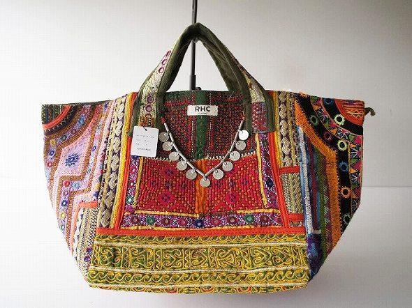 エスニック刺繍コイントートバッグ
