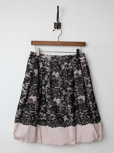 豪華レースサテンバルーンスカート