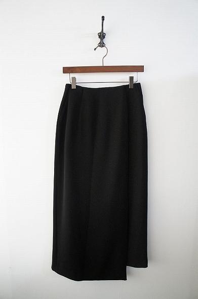 バックサテンジョーゼットストレートスカート