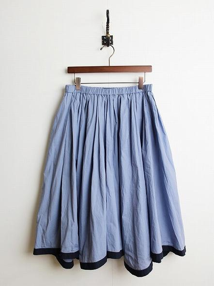 パイピングミモレ丈スカート