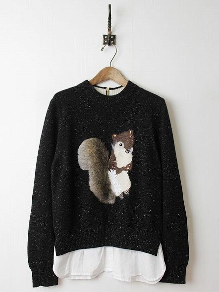 リス インターシャセーター