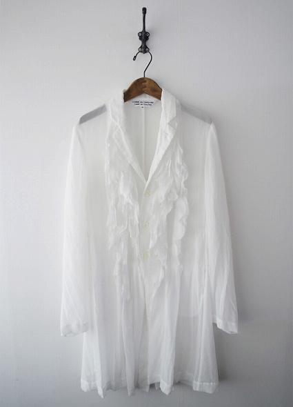 フリルロングシャツ