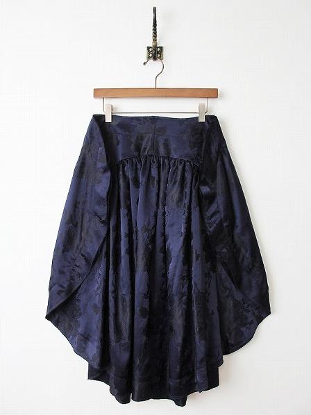 薔薇 ジャガード 変形スカート