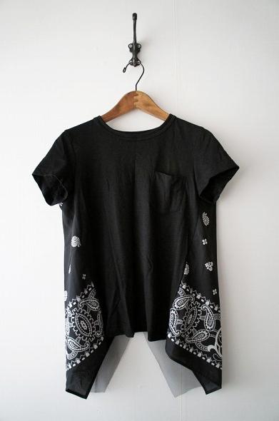 バンダナプリント バックスリット Tシャツ