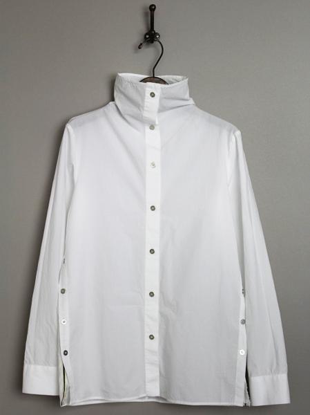 SHEAL SLVDGE ハイネックコットンシャツ