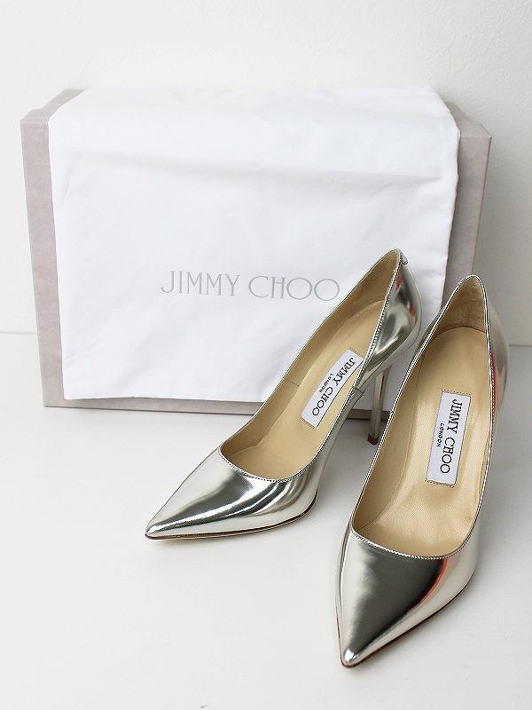 JIMMY CHOOABEL silver ポインテッドトゥパンプス