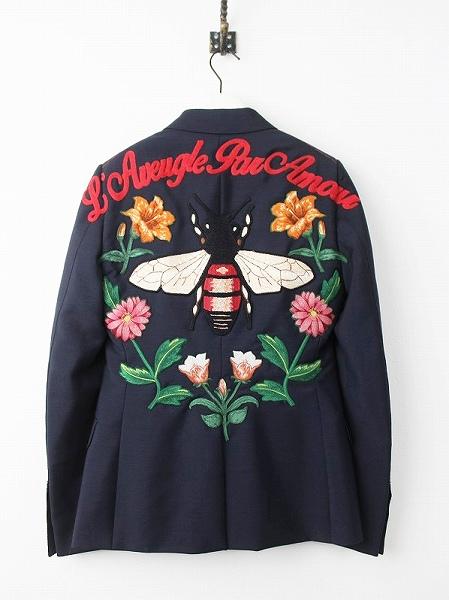 DIY 蜂刺繍 テーラードジャケット