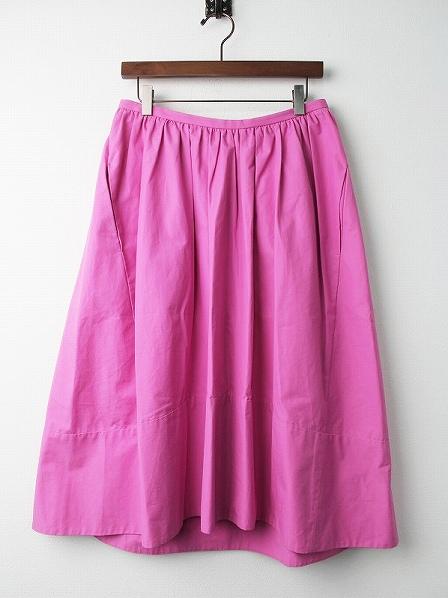 コットンミモレ丈 スカート