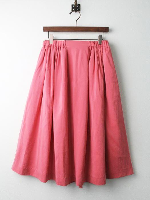 シルク混 フレア スカート