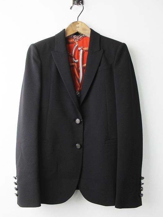 ホースプリント シルクライニング タキシードジャケット
