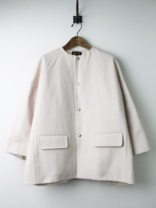 ノーカラー コート ジャケット