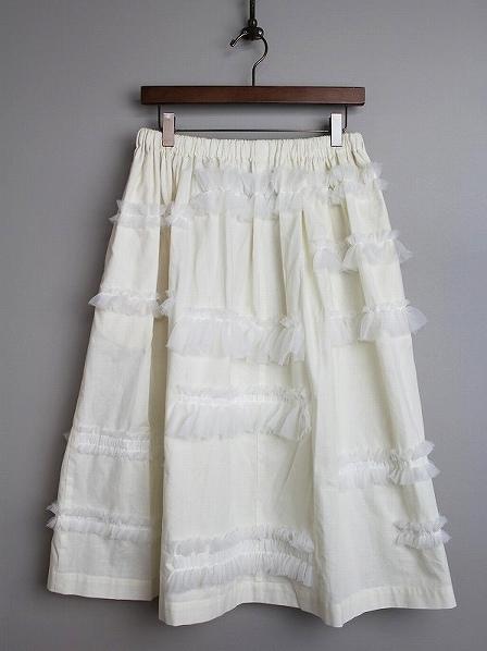 フリルティアードギャザースカート