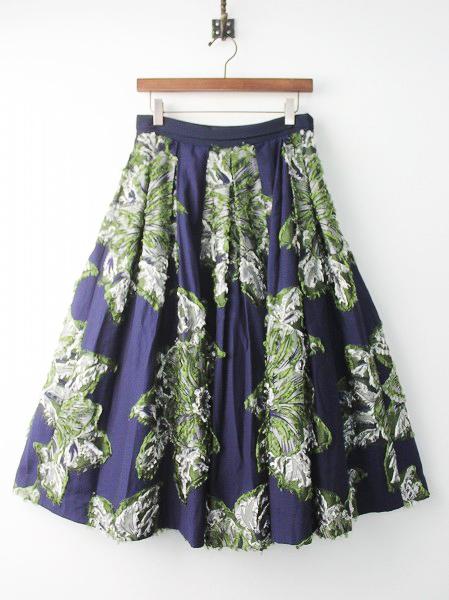 フラワージャガードボリュームスカート
