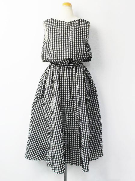 ギンガムチェック ドレス ワンピース