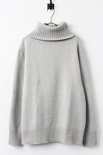 ミドルゲージ タートルネック ニット Mグレージュ セーター