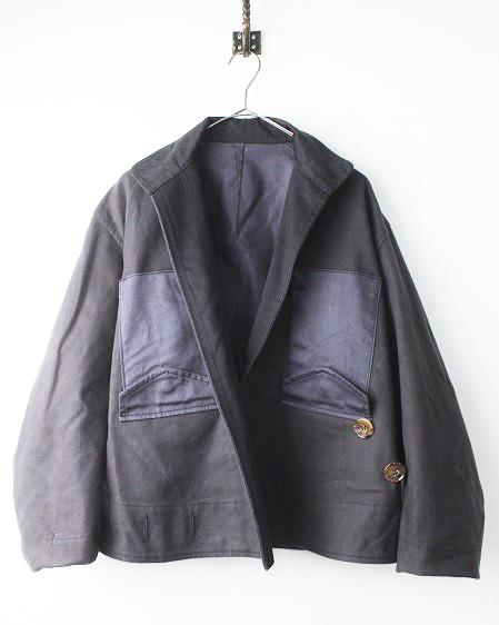 変形 上下逆 デザイン コットン ジャケット