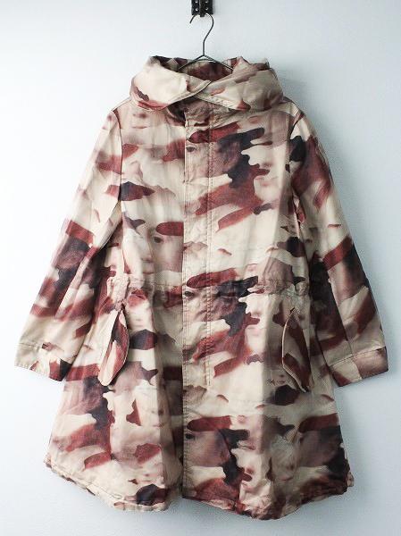 AHCAHCUM3Dかお カモフラ モッズ ロング ジャケット