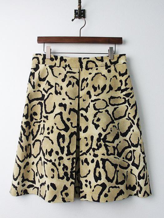 2014コレクション レオパードプリント スカート