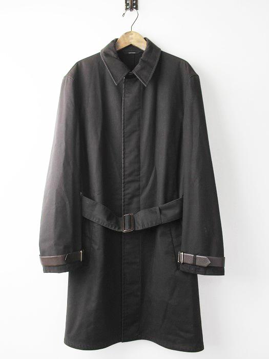 レザーベルト装飾 ステンカラーコート