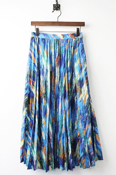 オリジナル プリント プリーツ スカート