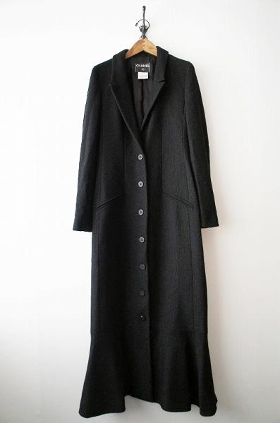 01A ウールナイロン 超ロングコート