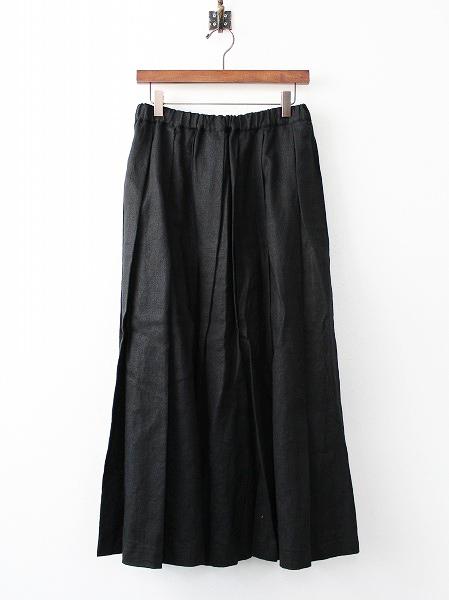 AD2013 リネン プリーツ フレア スカート