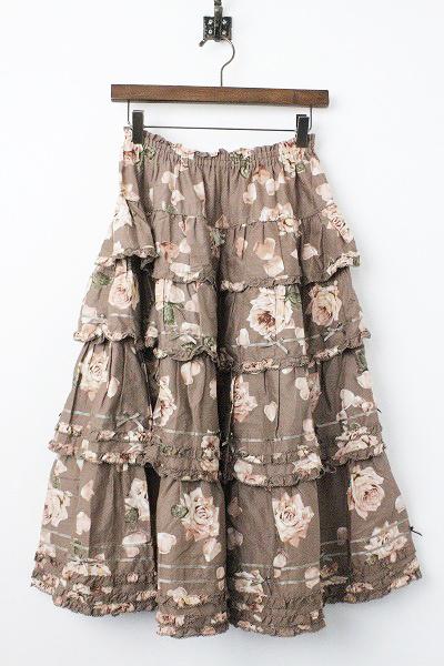 ローズ ペタル フリル スカート