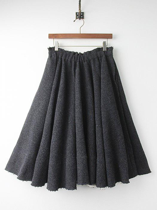 ウール ギャザー フレアスカート