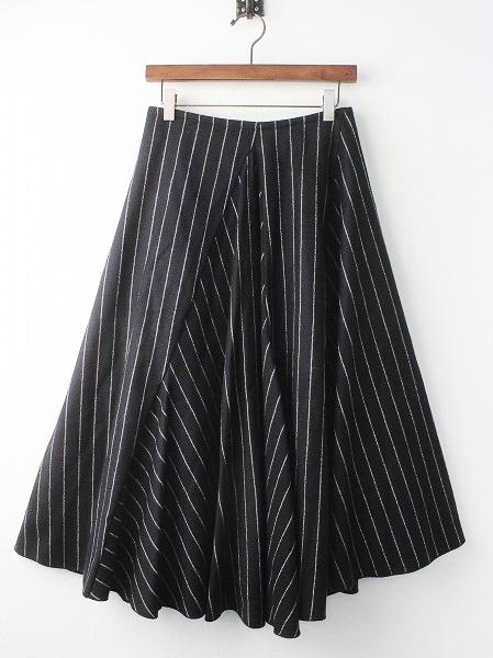 ウール チョーク ストライプ スカート