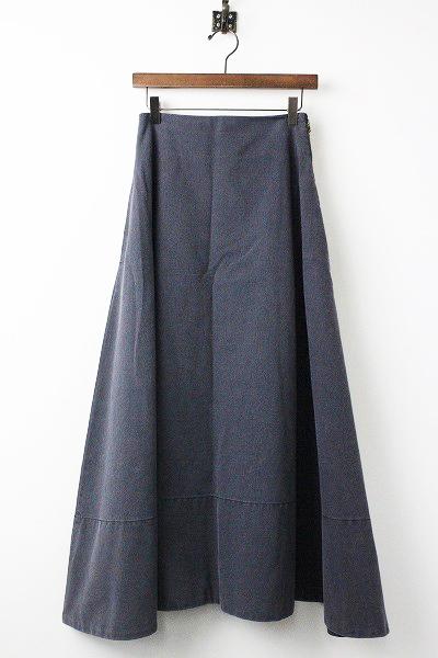 MB184-6712 バックサテン マキシ フレア スカート